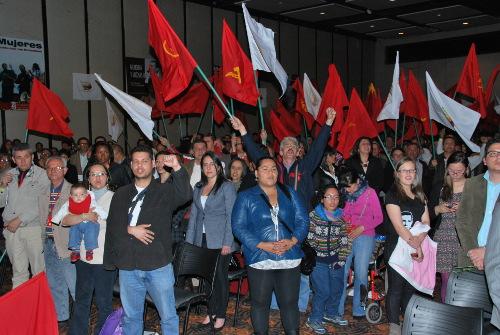 Asistentes al acto del XXI Congreso del Partido Comunista Colombiano en Bogotá. Foto archivo.
