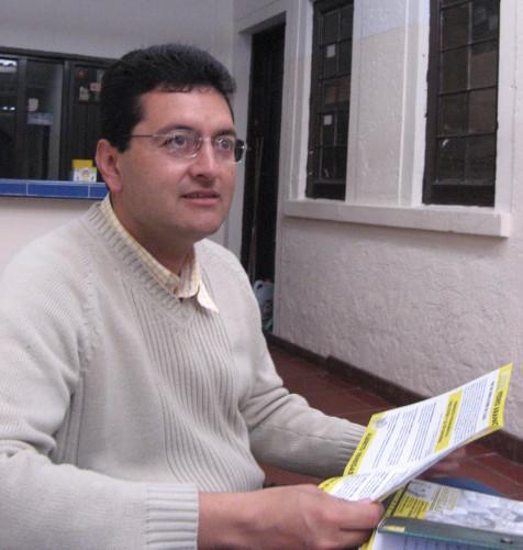 Alberto Vanegas, responsable de derechos humanos del ejecutivo nacional de la CUT.