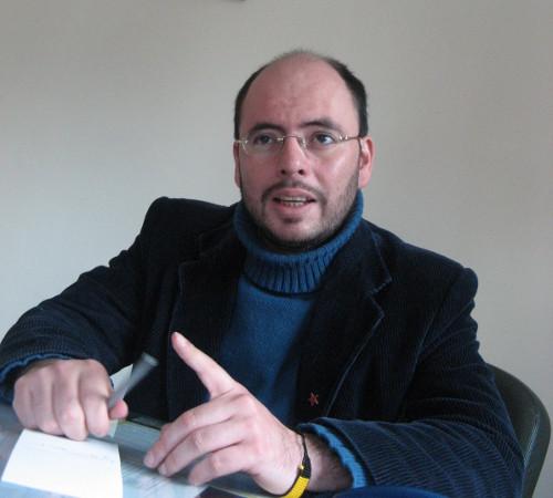 Gabriel Becerra, Secretario General del Partido Comunista en Bogotá.