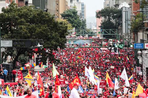 Venezuela está con Chávez. Fotografía Prensa Miraflores.