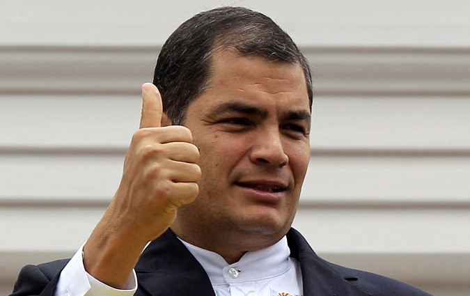 El presidente Rafael Correa va por su segundo mandato.