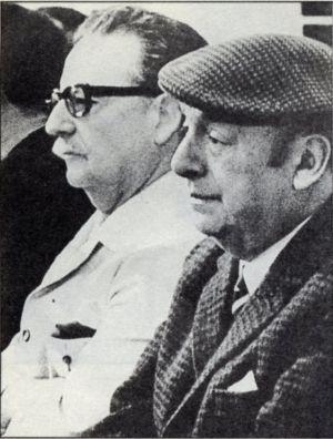 El presidente de Chile, Salvador Allende y el escritor chileno, Pablo Neruda, en una imagen de archivo.