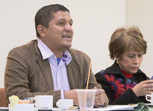 Andrés Gil y Jael Quiroga, miembros del COPAN. Foto Ernesto Che Mercado.