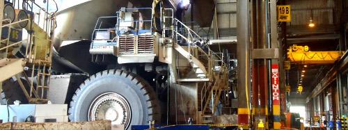Instalaciones de la mina donde hay un cese total de actividades.
