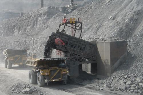 Mina de carbón en el Cesar.
