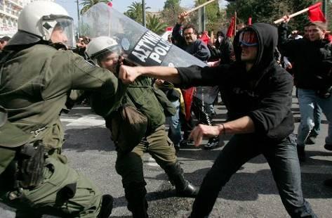 Aspecto de la huelga general en Grecia, la semana pasada.