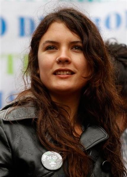 Camila Vallejo, presidenta de la Confederación de Estudiantes de Chile. Autor: AP