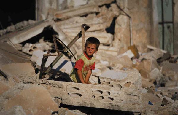 Los niños sirios están traumatizados por la guerra. Autor: AP