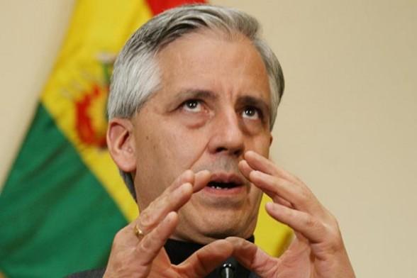 El presidente en ejercicio, Alvaro García Linera en conferencia de prensa sobre varios temas del país. - Abi Agencia