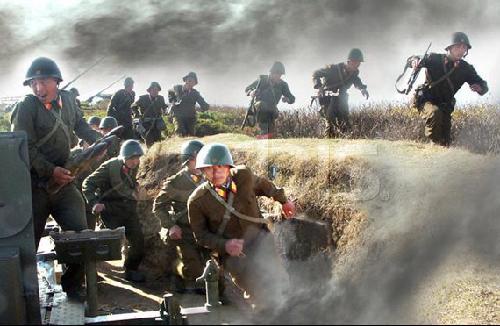 Entrenamiento de combate del ejército popular coreano