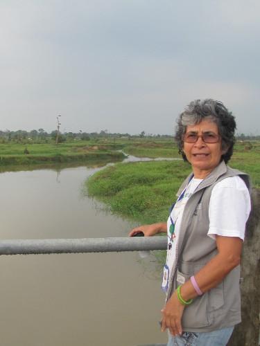 María Ruth Sanabria, directora regional del CPDH, Arauca. Foto Kikyo.