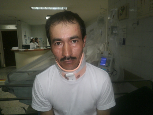 Campesino David Tafur, víctima del terrorismo de Estado. Foto Nelosi