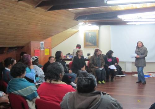 Seminario taller sobre feminismo en Bogotá,