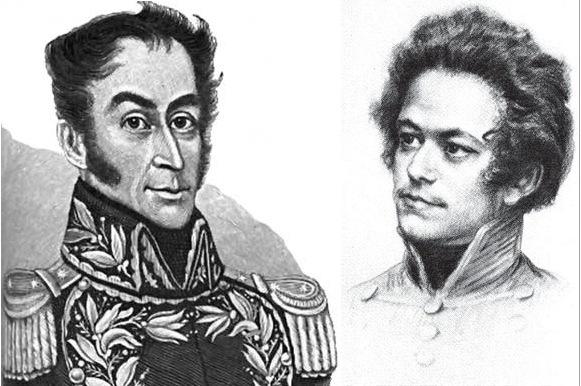 Simón Bolívar y el joven Carlos Marx