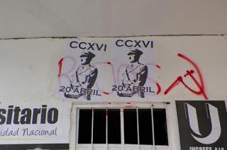 Propaganda nazi en la sedé de Bogotá de la Universidad Nacional