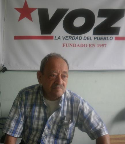 Camarada José Miguel Neira. Foto Nelosi.
