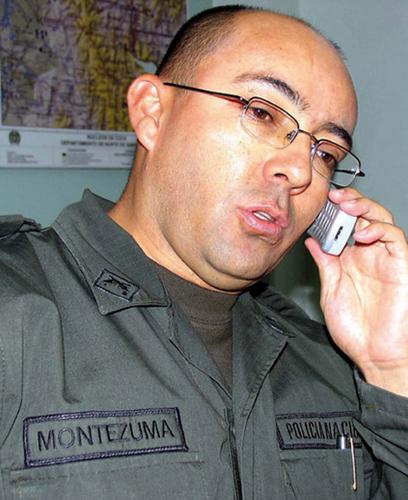 Coronel Montezuma, acusado por el ex paramilitar de haber ordenado el asesinato de varias personas, entre ellas uno de sus suboficiales. Foto Opinión Virtual.