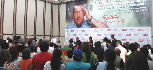 Interviene García Linera, vicepresidente de la República de Bolivia, en el X Encuentro de Intelectuales, Artistas y Luchadores Sociales en Defensa de la Humanidad, el 25 y 26 de marzo pasado, en Caracas.