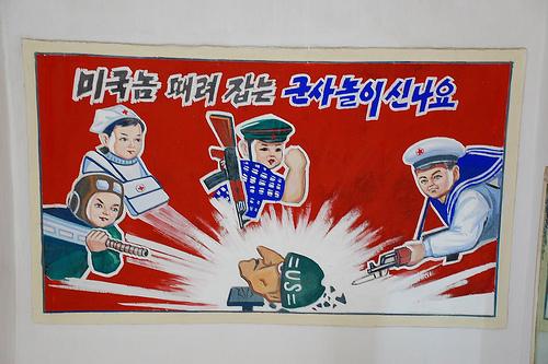 Valla antiimperialista en Corea Popular. Foto: (stephan) via photopin cc
