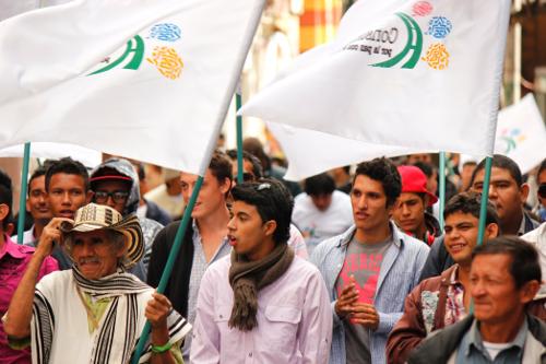 Lanzamiento de los constituyentes regionales por la paz en Bogotá. Foto Marcha Patriótica.