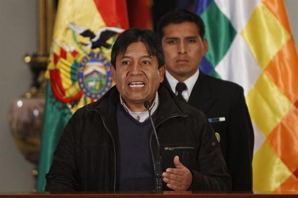 Pusieron en riesgo al Presidente boliviano, denunció el canciller David Choquehuanca. Foto: AP