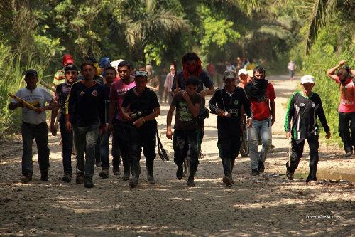 Catatumberos desde el primer día exigieron diálogo. Foto Cortesía Ernesto Che Mercado.