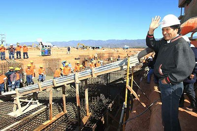 Se cuadruplica el crecimiento económico en Bolivia durante los ocho años de gobierno de Evo Morales (Foto: Archivo)