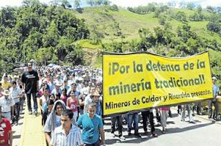 El sector minero no obtuvo ningún acuerdo tras el diálogo con el Gobierno de Colombia. Foto: Archivo.