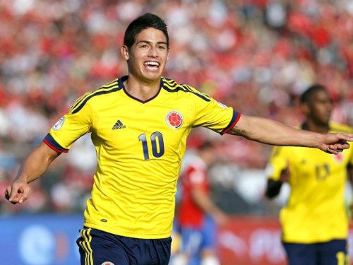 James Rodríguez. futbolista colombiano.