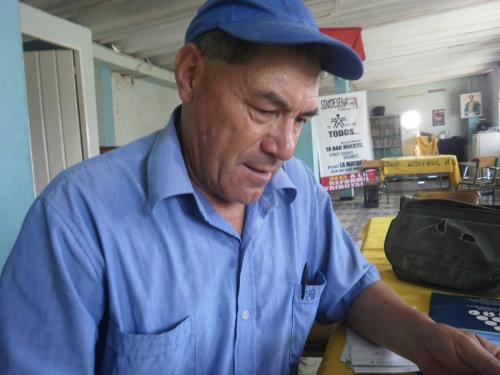 Danilo López Carrero, presidente acueductos comunitarios de Ibagué, Tolima. Foto Nelosi