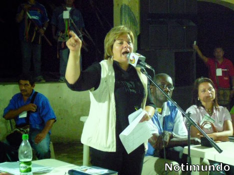 Senadora Gloria Inés Ramírez. en Putumayo. Notimundo