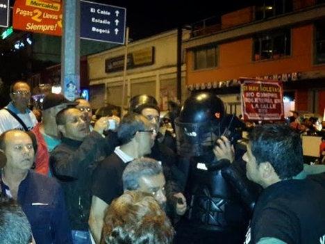 En confusos hechos donde se presentó una refriega con la Policía, resultó herido el presidente de la CUT Caldas.