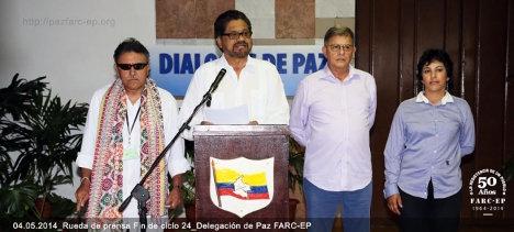 delegados paz farc
