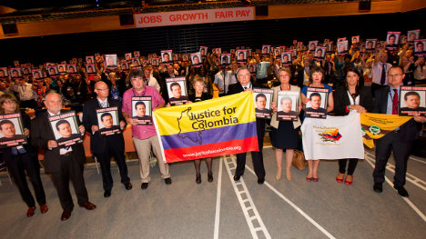 Ingleses Justice for Colombia