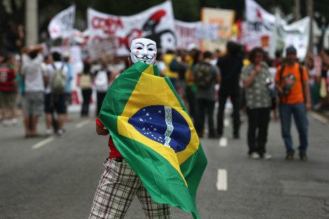 Los manifestantes en Brasil reclaman mayor inversión social.