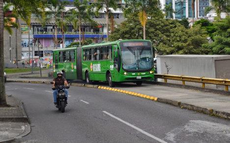 Articulado de Megabús en Pereira. Foto Periódico Vecinos.