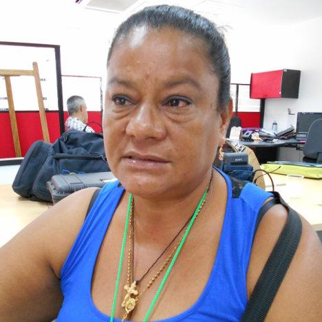 Luz Dary Calderón, líder y víctima de los paramilitares en Bolívar. Foto Kikyō.