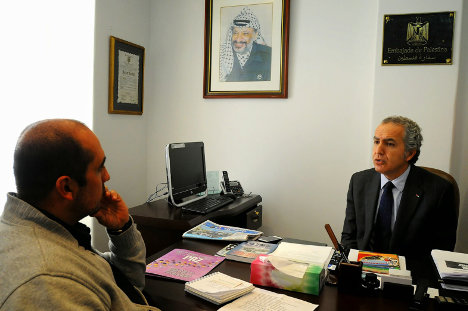 Raouf Al Malki, jefe de la misión diplomática palestina en Bogotá.