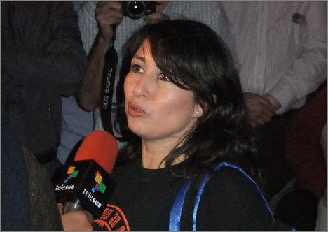 Liliany Obando, defensora de derechos humanos.