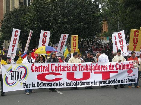 Marcha de trabajadores CUT