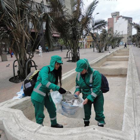 """Trabajadoras de """"Basura Cero"""" en Bogotá."""