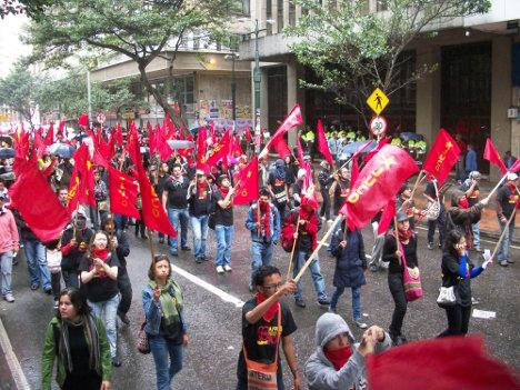 Presencia de comunistas en las calles bogotanas.