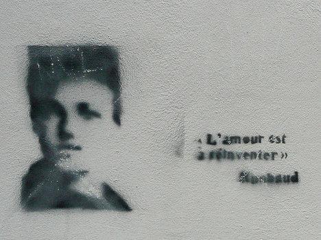 """""""El amor está por reinventarse"""" Rimbaud. Foto: Metro Centric via photopin cc"""