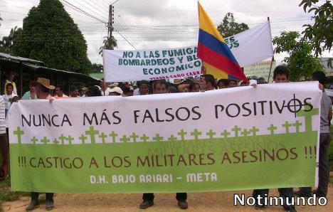 Las acusaciones de falsos positivos sobre el mando militar demuestran la sistematicidad de esos hechos criminales. Foto Archivo.