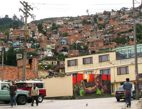Los barrios marginados de la localidad de Usaquén son caldo de cultivo para la delincuencia. Foto Flick.