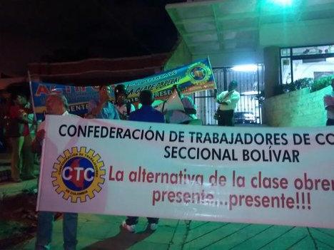 Protesta en funeraria los Olivos
