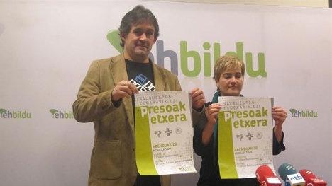 Pello Urizar y Rebeka Ubera, parlamentarios de la coalición soberanista EH Bildu