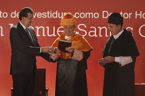 Investidura de Juan Manuel Santos como Doctor Honoris Causa. Foto: La Moncloa - Gobierno de España via photopin cc