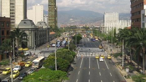 Una vista de Medellín.