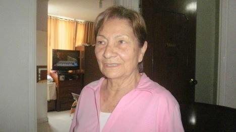 Camarada Alba Camelo Ocampo, esposa del camarada José Miguel Neira. Foto Nelosi
